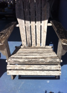 Adirondack chair before painting