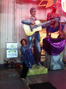 Me and the King at Mardi Gras World
